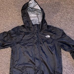 North Face black rain jacket
